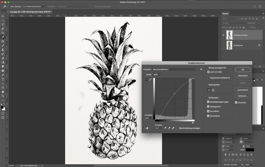 Von der Skizze aufs T-Shirt! Motive digitalisieren mit Photoshop