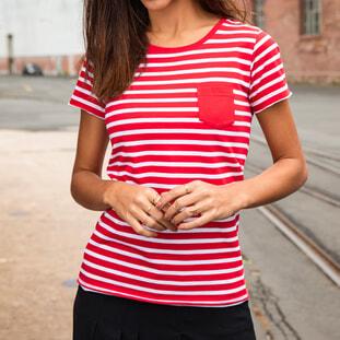Ladies' T-Shirt Striped 1