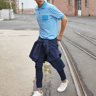 Men's Polo Striped 1