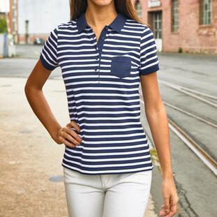 Ladies' Polo Striped 1