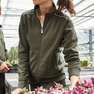 Ladies' Workwear Sweat-Jacket - SOLID 1