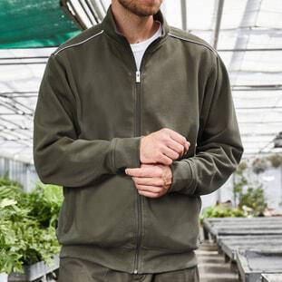 Men's Workwear Sweat-Jacket - SOLID 1