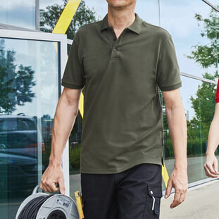 Men's BIO Stretch-Polo Work - SOLID - 1