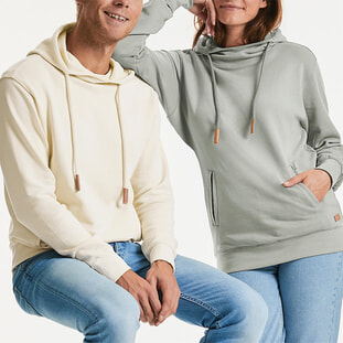 Pure Organic High Collar Hooded Sweat 1