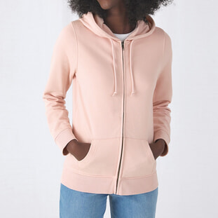 Organic Zipped Hooded /women 1