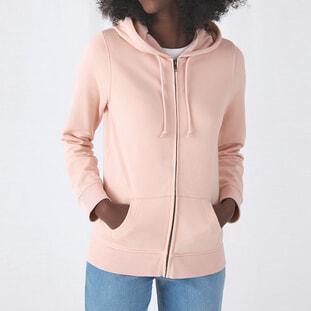 Organic Zipped Hooded /women 1